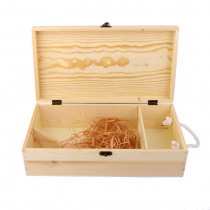 Double Carrier Wooden Box for Wine Bottle Gift Decoration