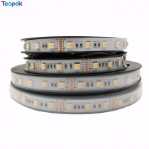 New products RGB+CCT LED Strip 5050 60led/meter 12v 24volt 5 in 1 chips CW+RGB+WW flexible strip