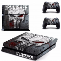 The Punisher PS4 Skin Sticker For Sony PlayStation 4 Console and Controller For Dualshock 4 PS4 Skins Sticker Decal Vinyl