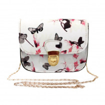 Shoulder Bags high quality leather Butterfly Flower Printing Handbag Tote women shoulder bags crossbody bag bolsos mujer L*5