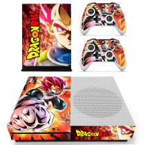 Dragon Ball Z Super Goku Skin Sticker Decal For Microsoft Xbox One S Console and 2 Controllers For Xbox One Slim Skin Sticker
