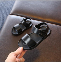 sandals for Boys 2019 summer new children's sandal 1-6 years old simple boy beach shoes black white shoes wholesale 21-30