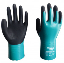 Water Proof Safety Gloves 2 Pairs 100% Nylon With Nitrile Fully Dipped Oil Chemical Resistant Work Glove