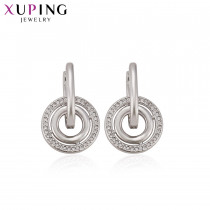 Xuping Fashion Round Shape Earrings Simple Exquisite for Women Labour Day Christmas Jewelry Gifts S77,3-94435