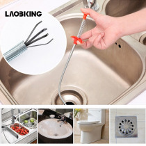 60cm Kitchen Bathroom Sink Pipe Drain Cleaner Pipeline Hair Cleaning Removal Shower Toilet Sewer Clog Long Line Plastic Hook