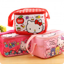 Waterproof kt Lunch Bag for Women kids Men Cartoon Cooler Lunch Box Bag Tote canvas lunch bag Insulation Package Portable