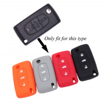3 Buttons Remote Silicone Key Case Cover For Peugeot 207 407 407SW For Citroen C4 C5 C6 C8 Car Flip Key Fob shell blank folding
