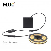 Dimmable LED Strip Light Battery Powered DC 5V LED Tape Battery Operated 4AA Waterproof 1M 2M 3M LED Stripe with Touch Dimmer