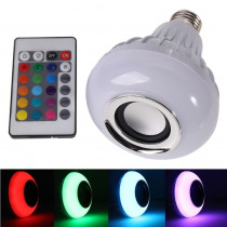 RGB LED Lamp Wireless Bluetooth Speaker Bulb Music Playing E27 LED Lighting with Remote Control