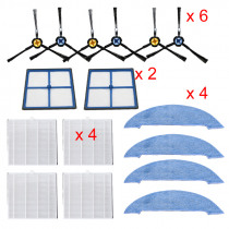 Dust Hepa filters Side Brush Primary filter Mop Pad Replacements part for ilife V8 V8s X750 X800 X785 V80 vacuum cleaner