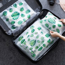 Travel Accessories Transparent Plant Travel Storage Bag Women Portable Organizers Pouch Toiletry Wash Bath Men Baggage Storage