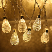 LED Fairy Lights String Hollow Water Drop Light String AA Battery Festival Lighting New Year Christmas Wedding Decoration