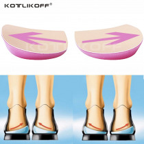 Orthopedic Shoes Sole Insoles O/X Type Leg Insoles Shoe Inserts Medial Lateral Heel Wedge Lift Silicone Pads Corrective Unisex