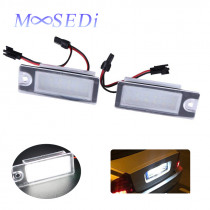 MOOSEDi 2PCS 6500K LED License Plate Lights for Volvo V70 CX70 S60 S80 XC90 With Canbus Error Free Auto Number Plate Light Bulb