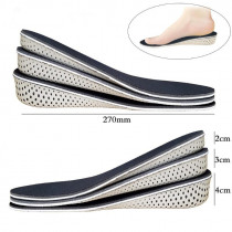 1 Pair Comfortable Orthotic Shoes Insoles Heighten Heel Insert Sports Shoes Pad Cushion  Unisex 2-4cm Height Increase Insoles