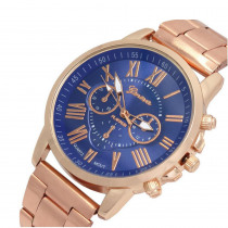 Stainless Steel Quartz Watches Double-Layer Literal Three-eye Men's and Women's Leisure Alloy Watches