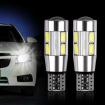 2x T10 W5W Car LED Turn Signal Bulb Auto Interior Dome Reading Light Wedge Side Parking Reverse Brake Lamp 5W5 5630