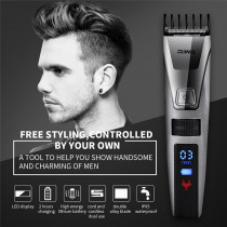 Professional Electric Hair Clipper One Build-in Comb Precision Rechargeable Hair Trimmer Wireless Noiseless Hair Cutting Machine