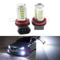 2pcs H8 H9 H11 33 SMD 5630 Car Led  Fog Lamps 33SMD Auto Rear Reverse Bulbs Daytime Running Light Turn signal  White yellow Blue