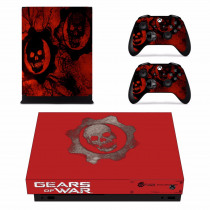 Gears of War 5 V Skin Sticker Decal For Microsoft Xbox One X Console and 2 Controllers For Xbox One X Skin Sticker Vinyl