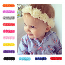 Newborn Baby Girls Toddler Elastic Cute Solid Color Flower Headbands Fashion Headcloth Infant Headwears Hair Decoration