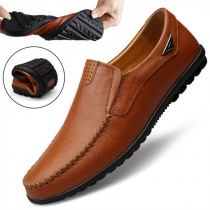2019 Man Casual Shoes Soft Bottom Men Shoes Genuine Leather Shoes Men Loafers Business Male Shoes Adult Footwear Plus Size 45