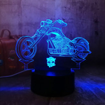 New Cool Born To Ride Motorcycle 3D LED Night Lights RGB 7 Colors USB Touch Bedroom Table Lamp Home Party Decor Kids Gift Lava