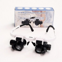 Magnifying Glass 8X 15X 23X Double LED Lights Eye Glasses Lens Magnifier Loupe Jeweler Watch Repair Tools Set