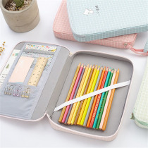 1pc Cute School Stationery Storge Bags Korean Macaron Color Multifunction Large Capacity Pencil Case for Ipad Phone