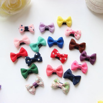10Pcs/lot Sewing Solid Dot Infant Baby Small Ribbon Bow Hair Clip Boutique Hairpins For Children Girls Kids Hair Accessories