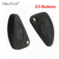 OkeyTech 2/3 Button New Style Remote Car Key Shell For Alfa Romeo 147 156 166 GT Model FOB Replacement Flip Folding Key Case