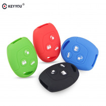 KEYYOU 3 Buttons Remote Silicone Car Fob Key Case Cover For Ford Focus Mondeo Festiva Fusion Suit Fiesta KA Holder Protector