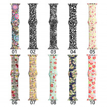 YUKIRIN Sport Silicone Strap For Apple Watch band Case 38mm 42mm 40mm 44mm for iwatch series 4 3 2 1 Flower pattern wristband