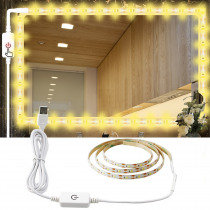 0.5 - 5M 2835 DC 5V LED Strip light Waterproof ip65 Led ribbon tape Dimmable Touch Sensor Switch Control with usb Power cord A1