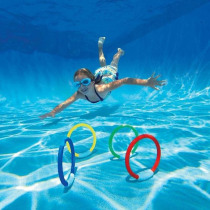 4Pcs/1Set Dive Ring Throwing Toys Swimming Pool Diving Game Water Toys Beach Summer Children Underwater Diving Ring Water Sport