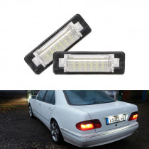 CANbus Car Rear Led Number License Plate Light For Mercedes Benz W210 E300 E320 E420 W202 4D C230 C280 C43 AMG White Led Lamp