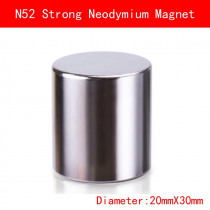 1pcs Diameter 20x30mm N52 neodymium magnet DISC strong rare earth N52 magnets 20mmx30mm NdFeB permanent round strong magnetic