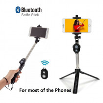 Universal Wireless Bluetooth Selfie Stick Mini Foldable Phone Tripod Extendable Handled Monopod For Mobile Phone Selfie Stick