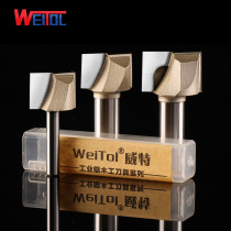 Weitol 1pcs 1/4 or 1/2 inch cleaning bottom bit woodworking tools CNC engraving bits router bit wood tools