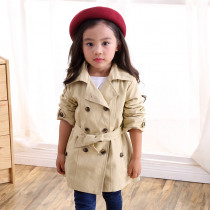 Girls jacket children's clothing Spring  girl trench coat Autumn Trench Double Breasted Windbreaker Teens Girls Outerwear