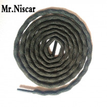 Mr.Niscar 2 Pair Round Athletic ShoeLaces Non-Slip Strong Hard-Wearing Outdoor Hiking Sneaker Shoe Laces for Boots Shoe Strings