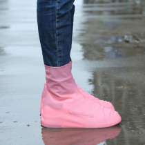 1 Pair Waterproof Protector Shoe Covers Rubber Anti-Slip Reusable Rainy Day Shoes Covers  Woman Man Solid Shoes Overshoes Boot
