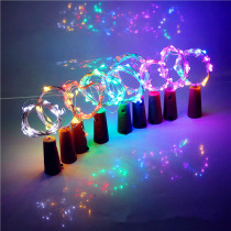 Beer Bottle Light with Cork Shaped 1M 10LED Copper Silver String Lamp for Christmas Wedding Fairy Light  Decoration