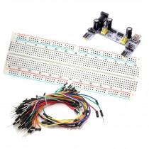 MB-102 830 Point Prototype PCB Breadboard + K2 Power Supply + 65pcs Jump Cable Wires