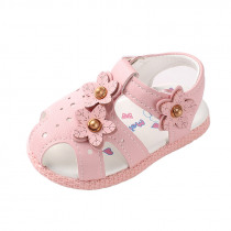 Children Sandals For Baby Girls Sneakers Summer Shoes With Flower Kids Infant Sandals Soft Bottom Beach Shoes Fashion