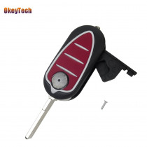 OkeyTech $4.99 3 Button Remote Blank Key Shell Keyles Entry Case Flip Car Key For Alfa Romeo Mito Giulietta 159 GTA Cover Case