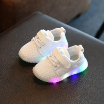 New Fashion Children Shoes With Light Led Kids Shoes Luminous Glowing Sneakers Baby Toddler Boys Girls Shoes LED EU 21-30