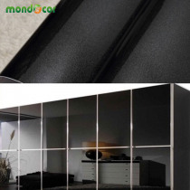 Black Marble Wood Grain Self Adhesive Waterproof Wallpaper for Kitchen Cabinets Countertops PVC Wall Sticker Vinyl Contact Paper