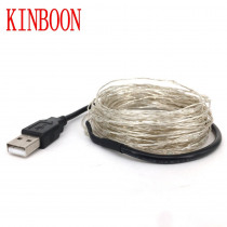 LED String lights 10M 5M 20M Silver Wire Fairy light Christmas Wedding Party Decoration Powered USB led Strip lamp