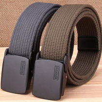 High Quality Men Women Durable Wear Resistant Canvas Belts Thickening Plastic Buckle Outdoor Sports Hunting Wear Accessories